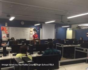Platte County FBLA Helps Platte Valley Bank Spread theWord